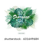 it's summer time palm and... | Shutterstock .eps vector #631649684