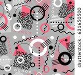 retro seamless 1980s inspired...   Shutterstock .eps vector #631650500