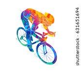 athlete bike cyclist | Shutterstock .eps vector #631651694
