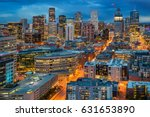 view of denver skyline from the ... | Shutterstock . vector #631653890