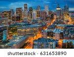view of denver skyline from the ... | Shutterstock . vector #631653890