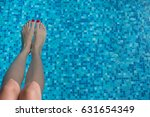 swimming pool background with... | Shutterstock . vector #631654349