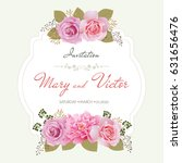 wedding invitation card  save... | Shutterstock .eps vector #631656476