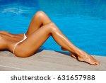 portrait of beautiful tanned... | Shutterstock . vector #631657988