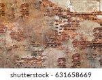 grunge brick wall texture... | Shutterstock . vector #631658669