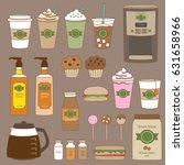 vector illustration of coffee... | Shutterstock .eps vector #631658966