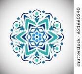 painted flower logo vector.... | Shutterstock .eps vector #631660340