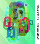 alphabet q vector pattern | Shutterstock .eps vector #631665908