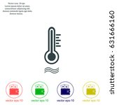 thermometer vector icon | Shutterstock .eps vector #631666160