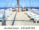 classic wooden yacht deck with... | Shutterstock . vector #631669184
