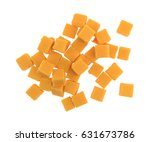 top view of a group of cubed... | Shutterstock . vector #631673786