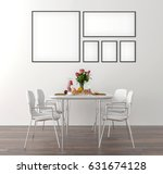 picture frame interior set in... | Shutterstock . vector #631674128