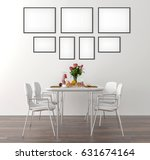 picture frame interior set in... | Shutterstock . vector #631674164