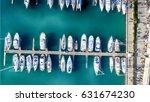 boats in the port  overhead...   Shutterstock . vector #631674230