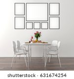 picture frame interior set in... | Shutterstock . vector #631674254