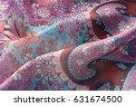 folds of fabric with a pattern | Shutterstock . vector #631674500