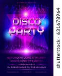 colorful flyer for disco party. ... | Shutterstock .eps vector #631678964