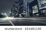 the traffic light trails of city | Shutterstock . vector #631681130