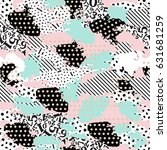 seamless pattern of different... | Shutterstock .eps vector #631681259