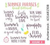 hand written summer lettering...   Shutterstock .eps vector #631681508