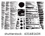 vector paint art brush bundle... | Shutterstock .eps vector #631681634