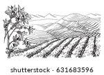 coffee plantation landscape in...   Shutterstock .eps vector #631683596