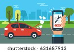 evacuation service concept... | Shutterstock .eps vector #631687913