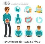 irritable bowel syndrome...   Shutterstock .eps vector #631687919