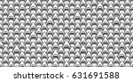 seamless pattern shark  ... | Shutterstock .eps vector #631691588