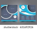 square flyer template. brochure ... | Shutterstock .eps vector #631692926