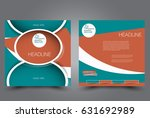 square flyer template. brochure ... | Shutterstock .eps vector #631692989