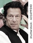 Small photo of Portrait - Pakistan Tehreek-e-insaf chairman Imran Khan thinking on mic in the youth convention 06/04/2013