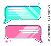 phone messages  sms  dialog box ...   Shutterstock .eps vector #631705406