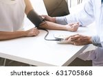 doctor checking old woman... | Shutterstock . vector #631705868