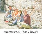 group of multiracial friends...   Shutterstock . vector #631713734