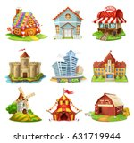 houses and castles. buildings... | Shutterstock .eps vector #631719944