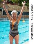 portrait of excited senior... | Shutterstock . vector #631721000
