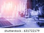 double exposure businessman and ... | Shutterstock . vector #631722179