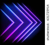 Colorful Neon Arrow Background...