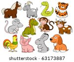 vector animals   symbols of... | Shutterstock .eps vector #63173887