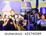 photographer video recording... | Shutterstock . vector #631740389