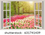 Window With Beautiful Spring...