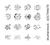 abstract future icons vector | Shutterstock .eps vector #631744670