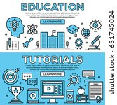 education  tutorials concepts.... | Shutterstock .eps vector #631745024