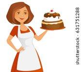 confident baker | Shutterstock .eps vector #631751288