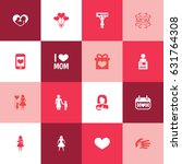 mothers day icon design concept.... | Shutterstock .eps vector #631764308
