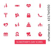 mothers day icon design concept.... | Shutterstock .eps vector #631764350
