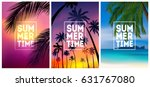 summer tropical backgrounds set ... | Shutterstock .eps vector #631767080