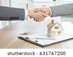 house developers and customers... | Shutterstock . vector #631767200