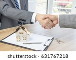house developers and customers... | Shutterstock . vector #631767218